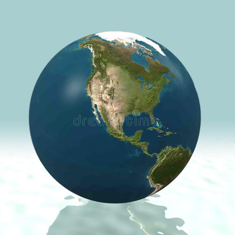 Globe de l'Amérique du Nord 3D illustration libre de droits