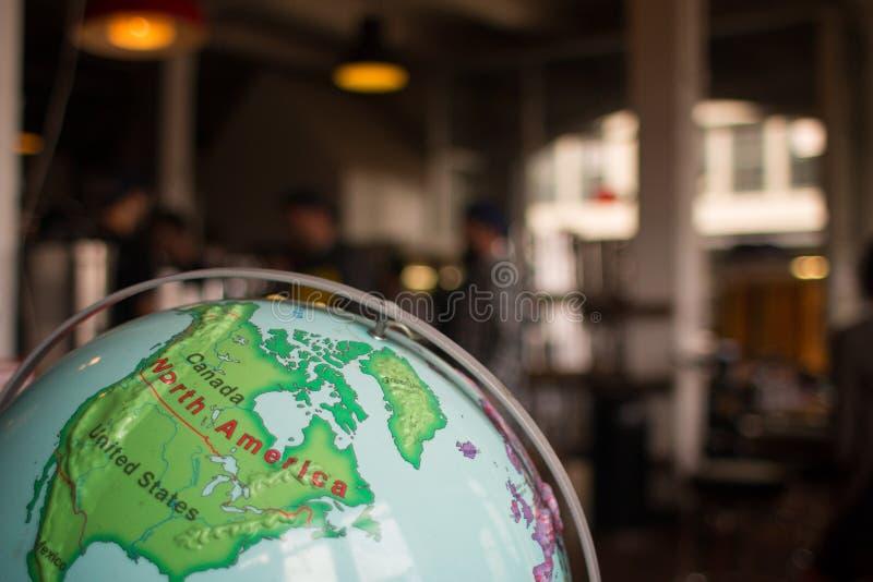 Globe de l'Amérique du Nord photo stock