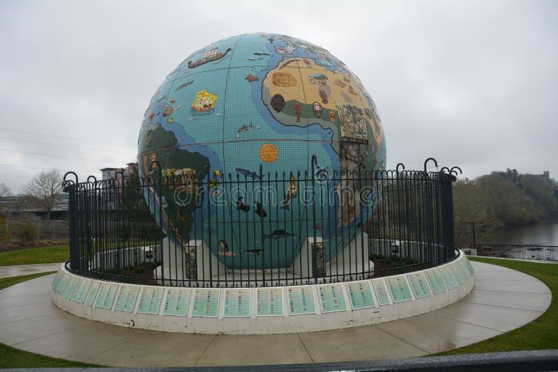 Globe de l'Eco-terre à Salem, Orégon image libre de droits