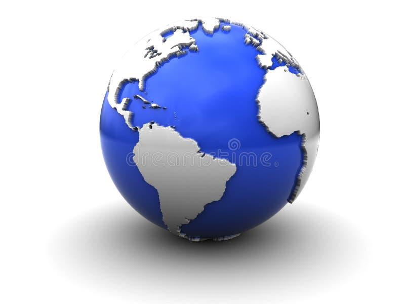 Globe de la terre illustration libre de droits