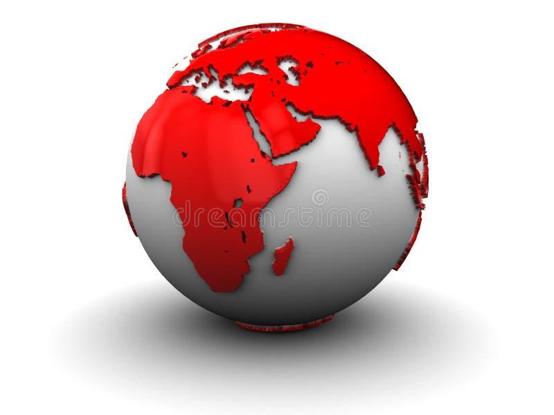 globe de la terre 3d illustration de vecteur