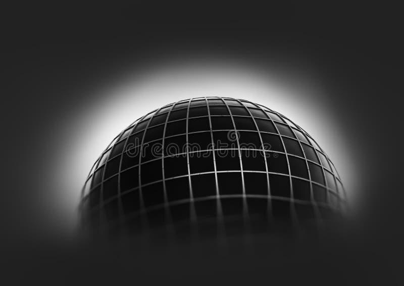 Globe de la terre avec le fond de grille photo stock