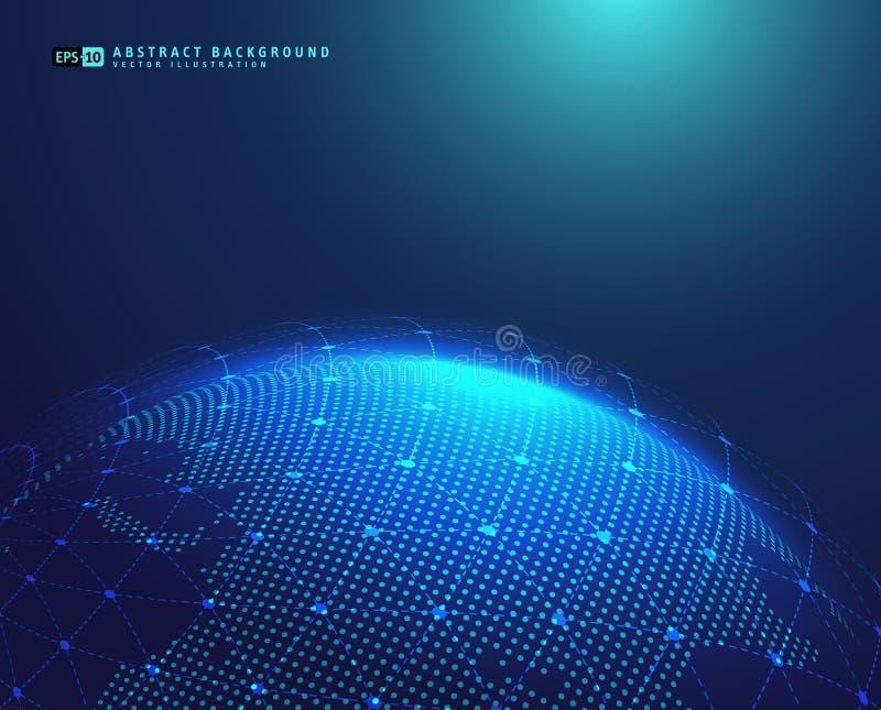 Globe de la terre avec la sphère de cadre de fil illustration libre de droits