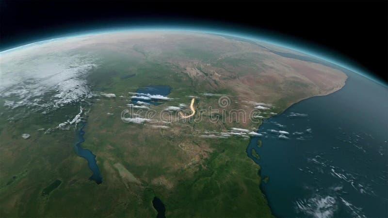 Globe de la terre d'isolement sur le fond noir Éléments de cette image meublés par la NASA illustration de vecteur