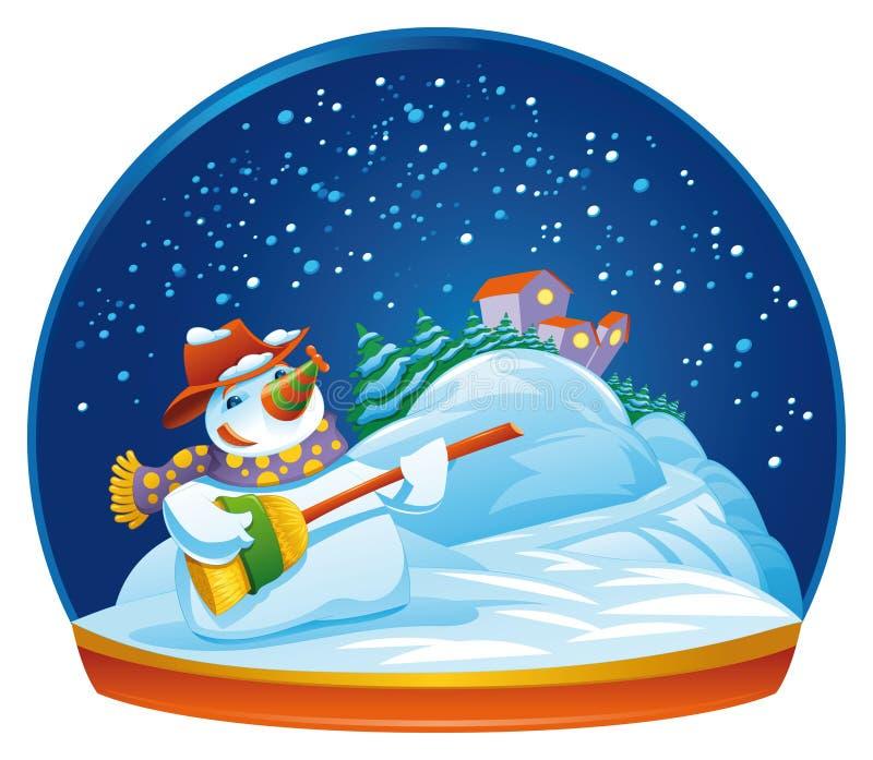 Globe de neige de bonhomme de neige illustration libre de droits