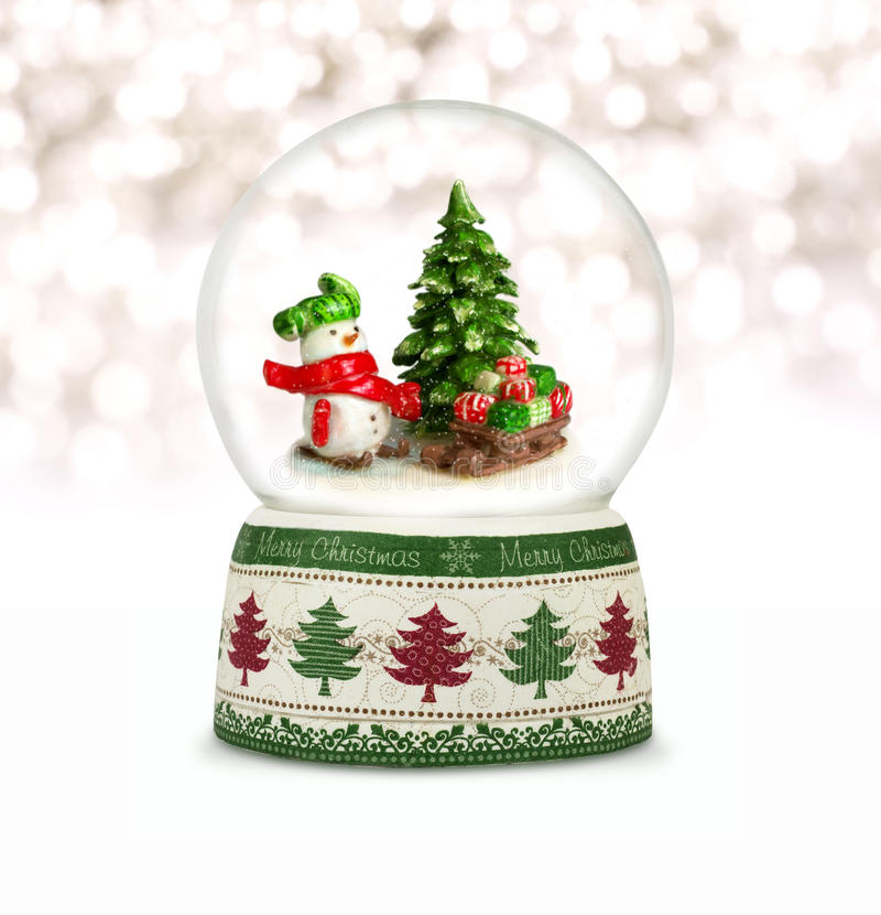 Globe de neige de Noël photo stock