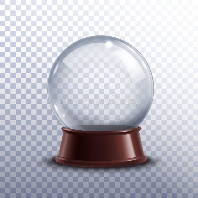 Globe de neige transparent illustration libre de droits