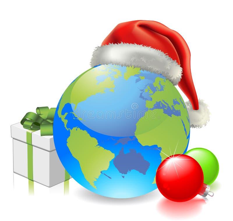 Globe de Noël illustration de vecteur