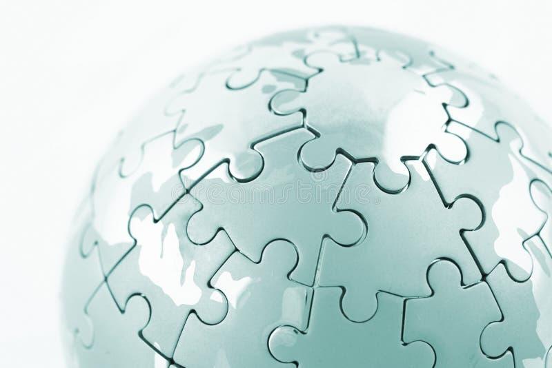 Globe de puzzle image stock