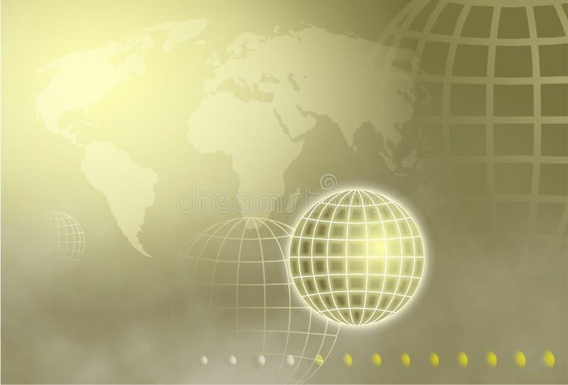 Globe de réseau illustration libre de droits