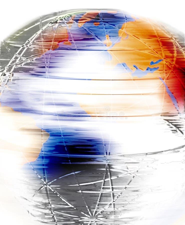 Globe de rotation illustration libre de droits