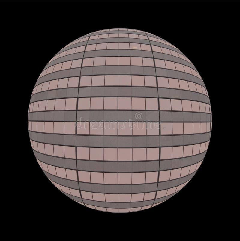 Globe de Windows de gratte-ciel illustration libre de droits