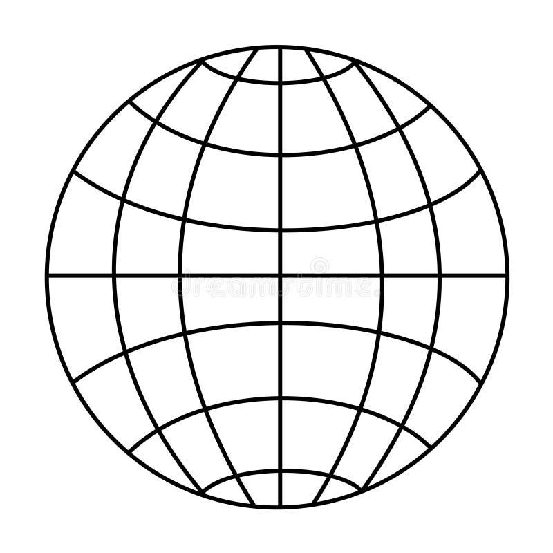 Globe de Wireframe illustration libre de droits