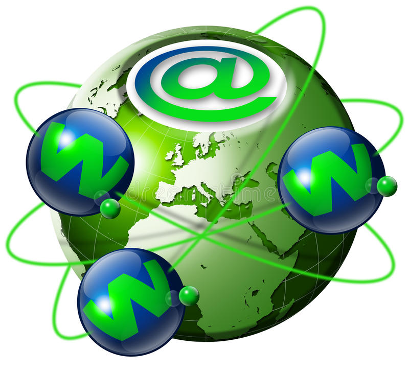Globe de World Wide Web illustration stock