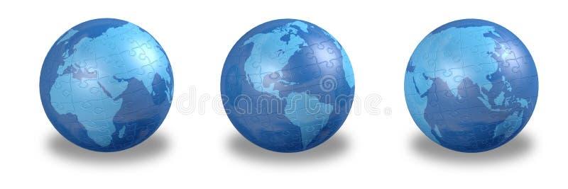 Globe denteux illustration de vecteur