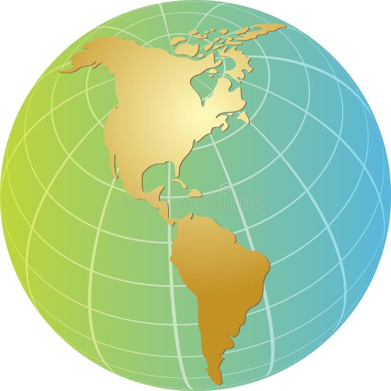 globe des Amériques illustration libre de droits
