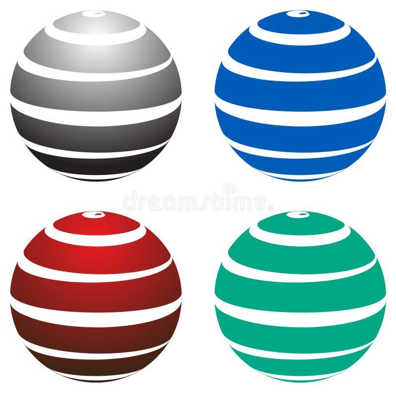 Globe design company logo. Simple illustration of globe design company logo on white background. attached eps file stock illustration