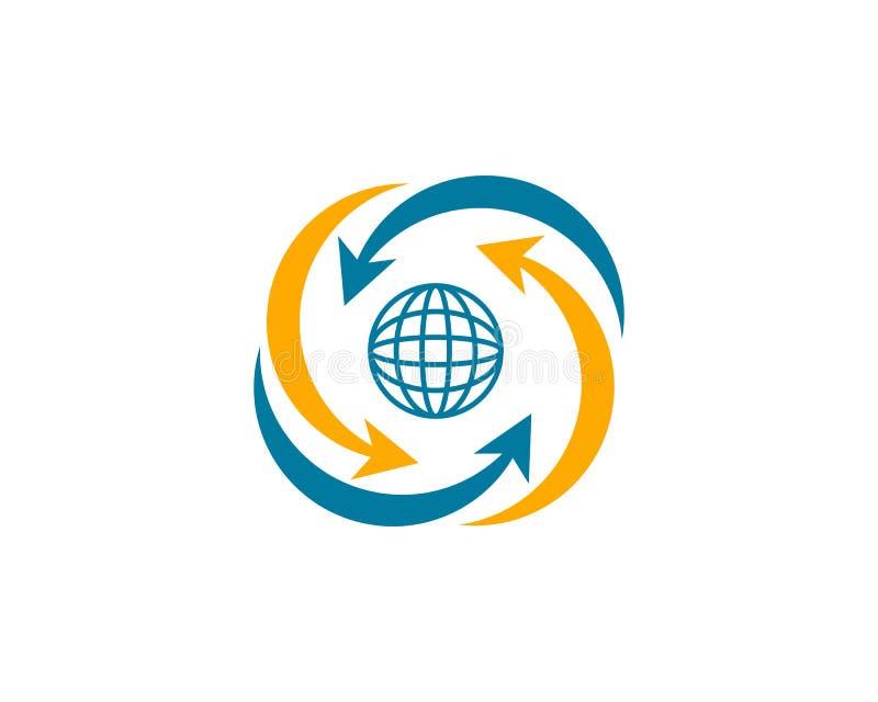 Globe design logo template. Globe design logo vector illustration