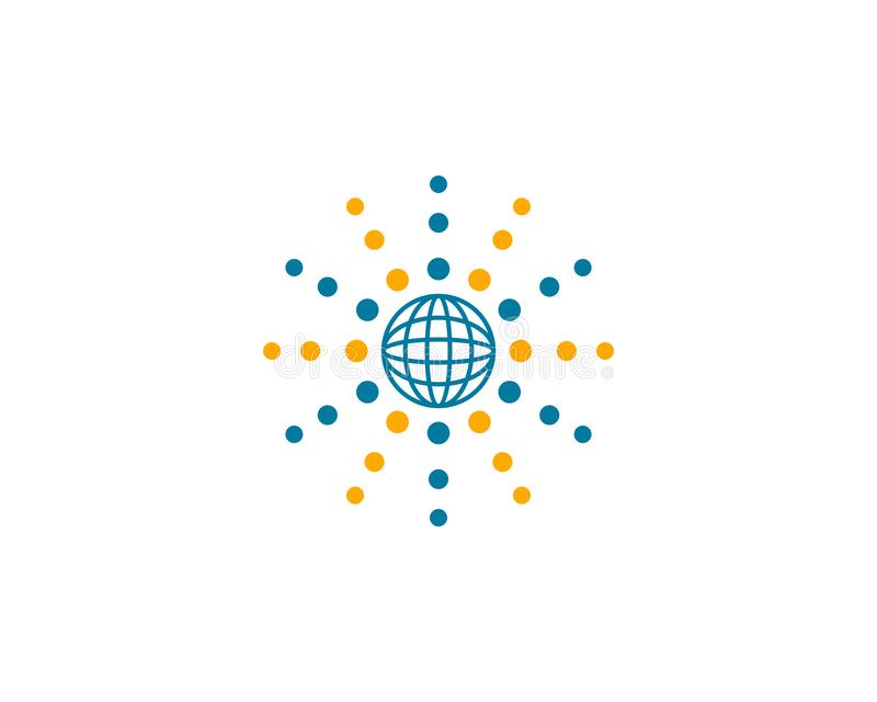 Globe design logo template. Globe design logo stock illustration