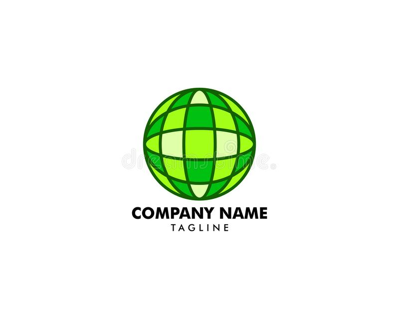 Globe design logo template. Globe design logo royalty free illustration