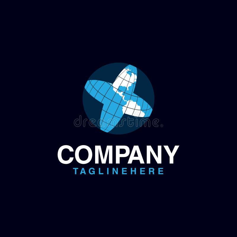 Globe design logo template. Designs Template vector royalty free illustration