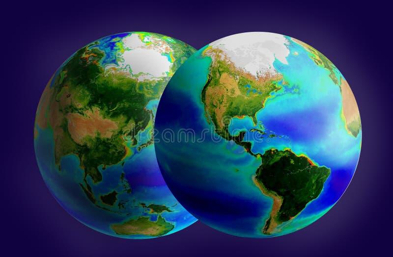 Globe deux photo stock