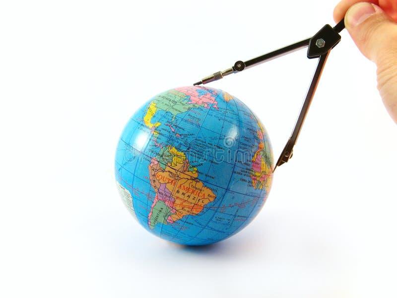 Download Globe Distance Measure Orientate Navigate Stock Image - Image: 5551303