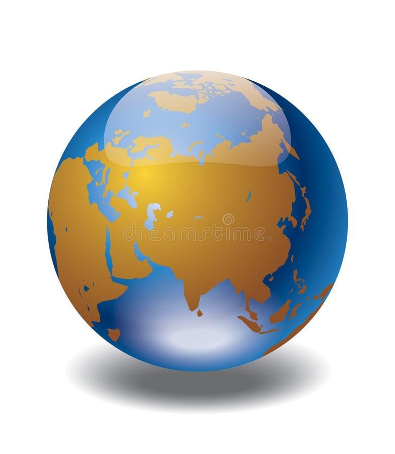 Globe du monde illustration stock