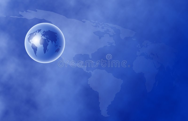 Globe du monde illustration libre de droits
