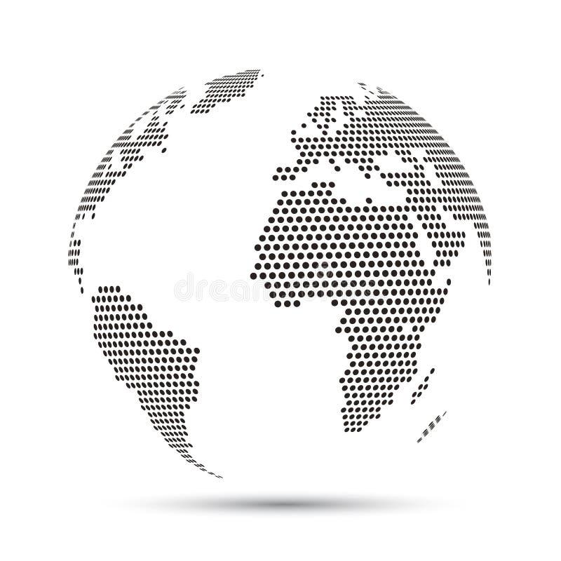 Globe du monde avec des pixels - vecteur illustration de vecteur