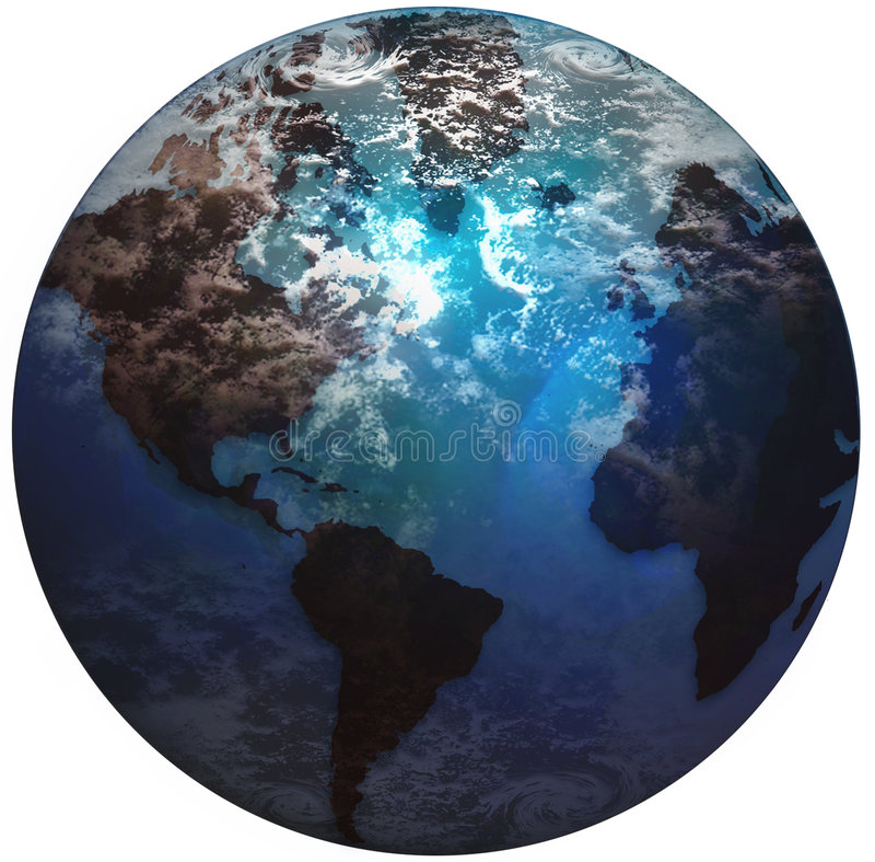 Globe du monde de la terre illustration de vecteur