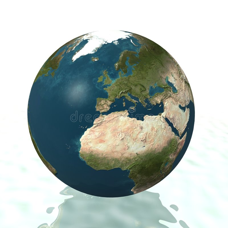 Globe du monde (l'Europe) image stock
