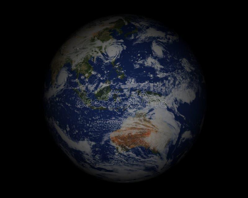 Globe du monde sur black003 illustration stock