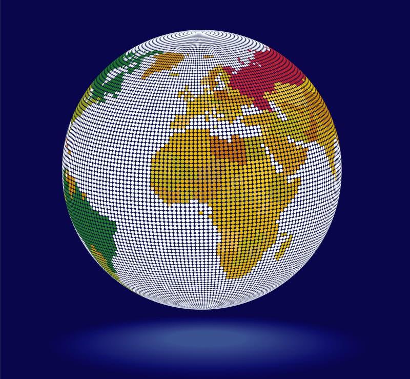 globe du vecteur 3D illustration de vecteur