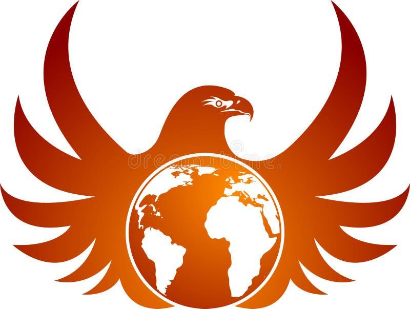 Globe eagle. Illustration art of a globe eagle bird with isolated background vector illustration