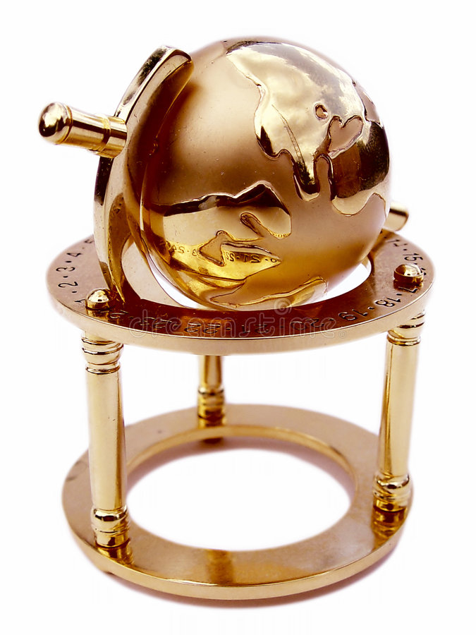 Globe of the Earth stock image