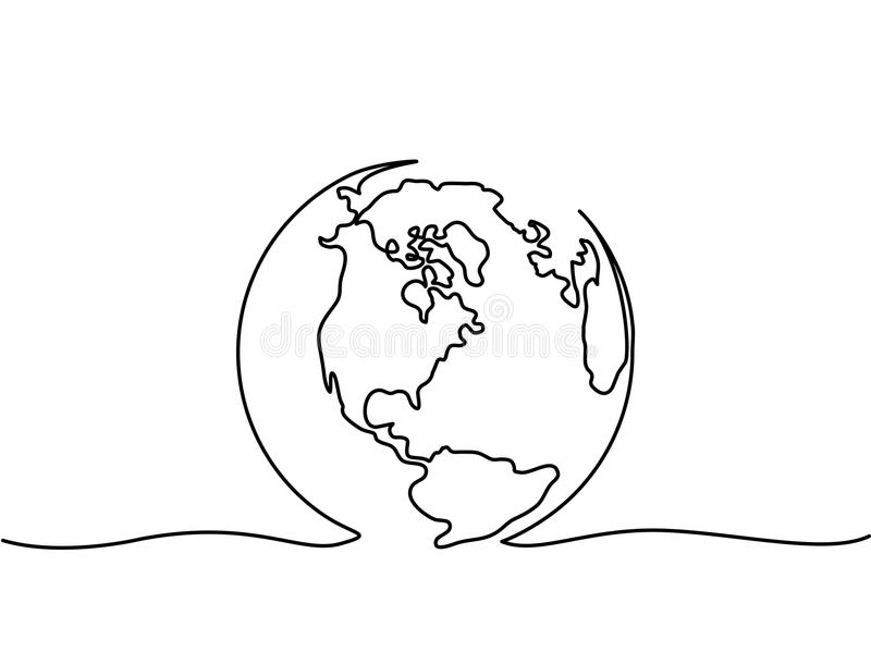 Globe of the Earth royalty free illustration