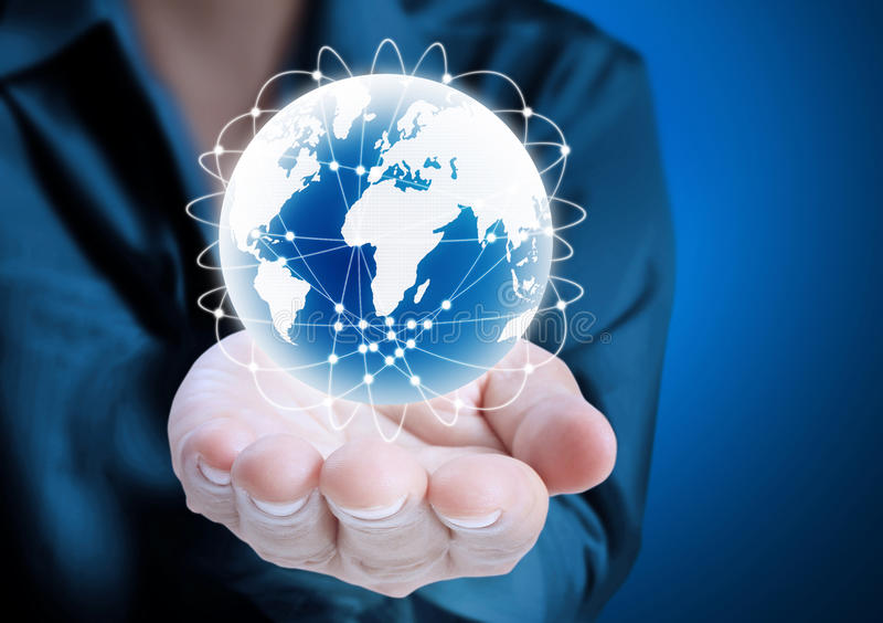 Download Globe ,earth in hand stock illustration. Illustration of ball - 31995621