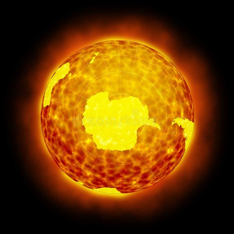 Globe Earth Hot Climate Light Halo Flare Royalty Free Stock Photo
