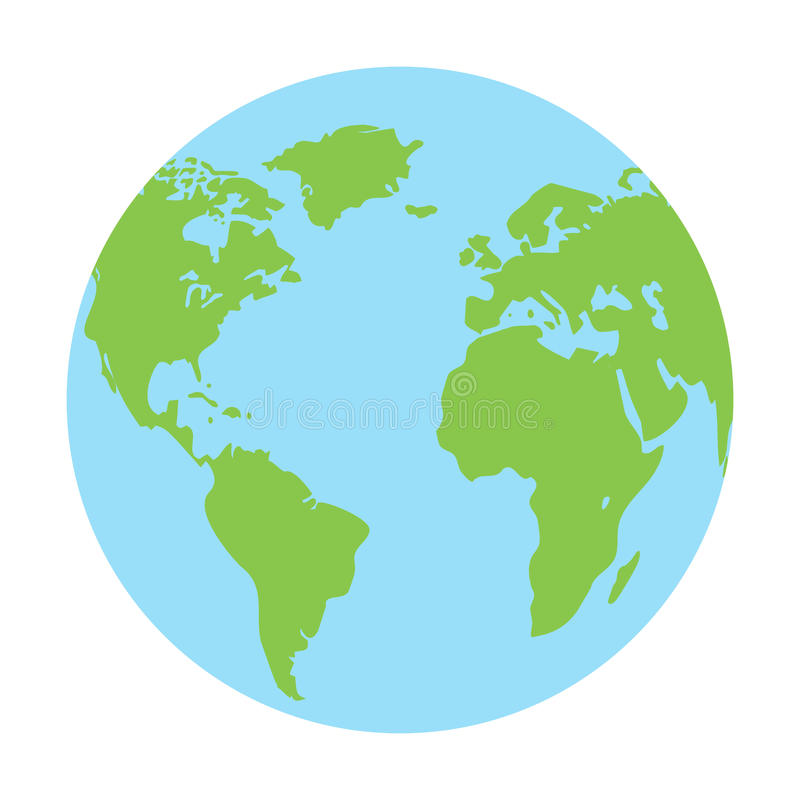 Globe earth icon vector vector illustration