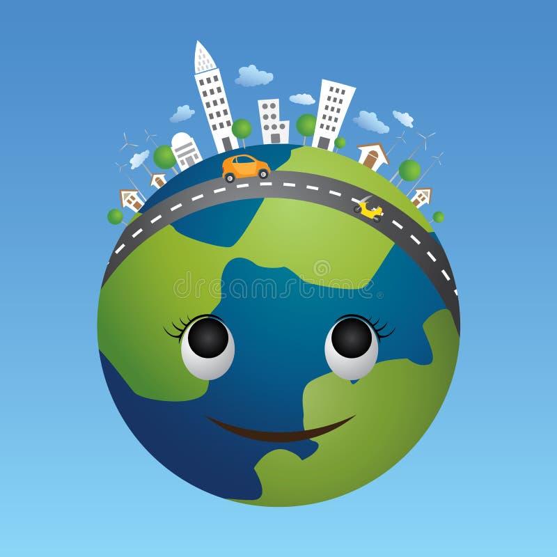 Globe eco concept. royalty free stock photography