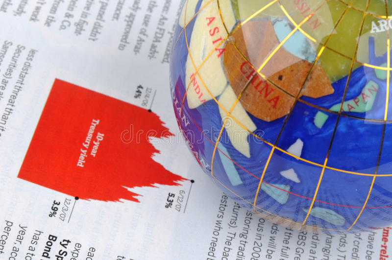 Download Globe And Economy Information Stock Image - Image: 14131873