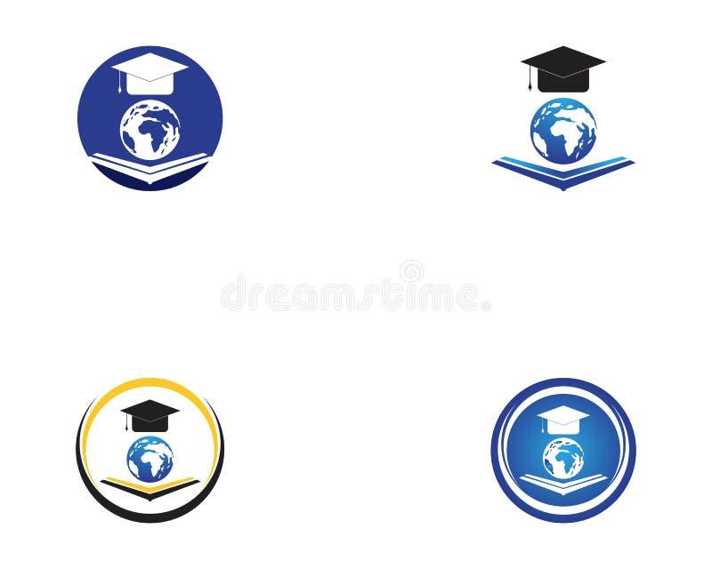 Globe education logo design vector.  royalty free illustration