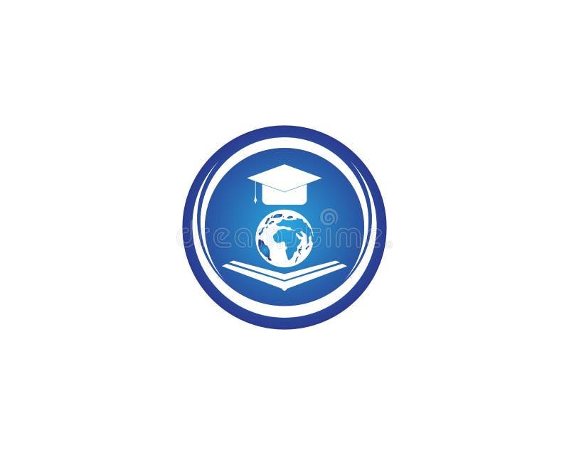 Globe education logo design vector.  vector illustration