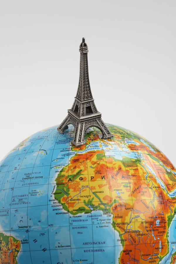 Download Globe With Eiffel Tower Stock Photography - Image: 11926722