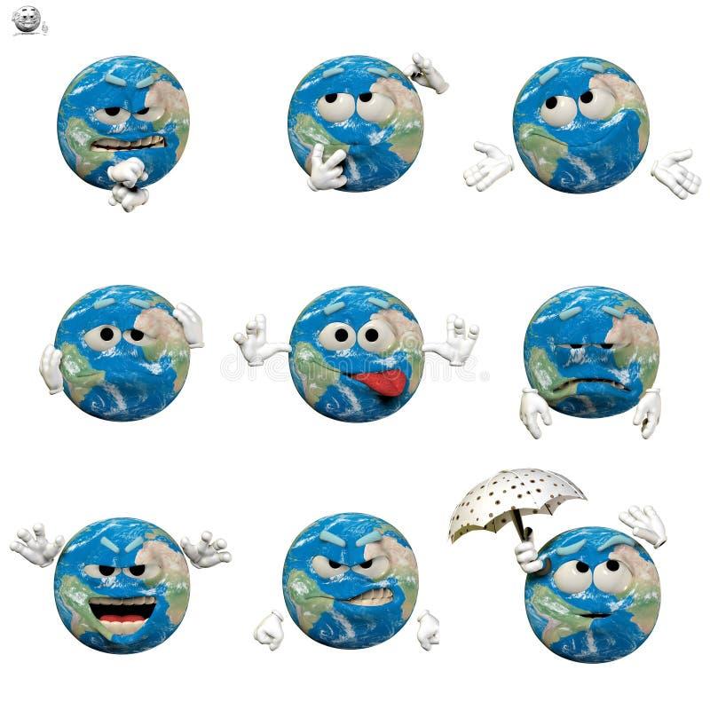 Download Globe emoticon set stock illustration. Image of ecology - 13701638
