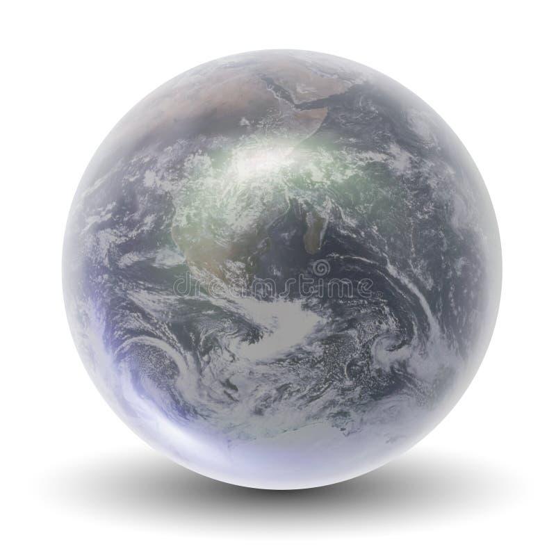 globe en cristal de la terre 3D illustration libre de droits