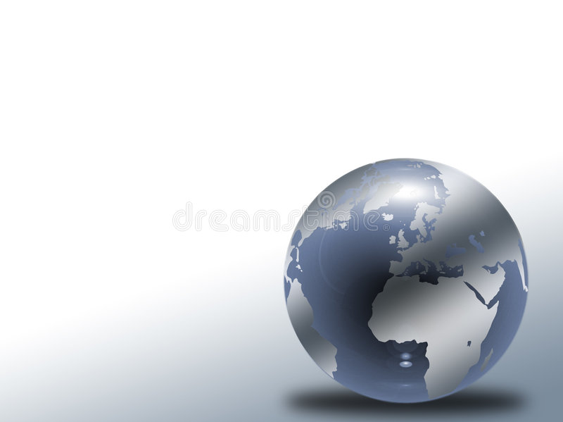 Globe en verre illustration stock