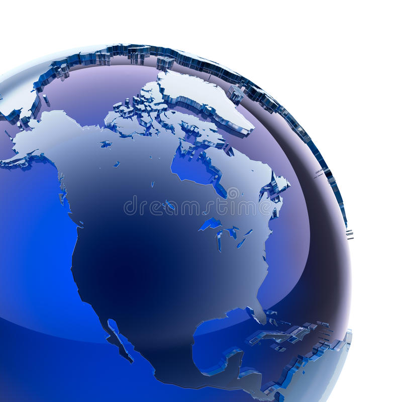 Globe en verre bleu illustration libre de droits