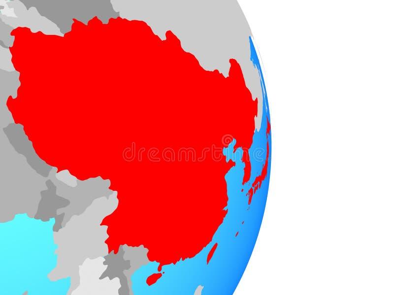globe est de l'Asie illustration de vecteur